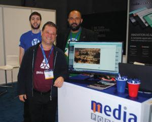 2016Equipe da MediaPortal no estande da marca no Pavilhão Brasileiro muito satisfeita com a menção da Sony Internacional como parceiro tecnológico regional