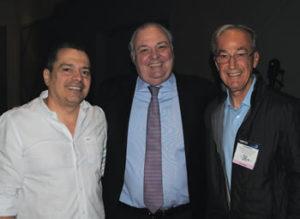 Roberto Franco (SBT/SET), Luiz Padilha (Sony) e Fernando Bittencourt (SET) durante o Seminário da Sony Brasil em Las Vegas