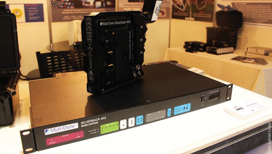 Os transmissores de sinais sobre fibra ótica Silver Black 4K5, da MultiDyne, foram o destaque do estande da Inviso no SET EXPO 2016