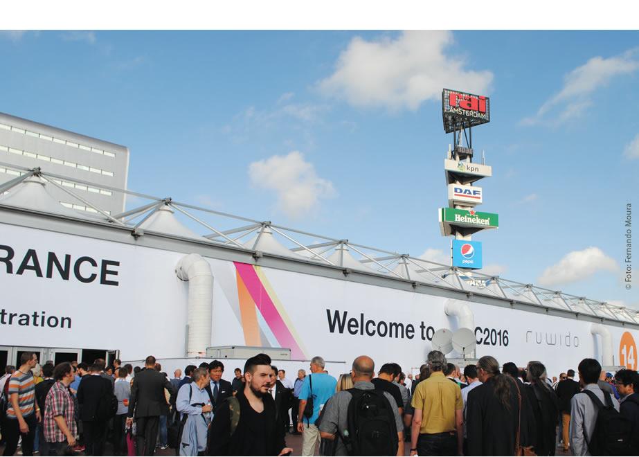 Mais de 55 mil visitantes de 160 países participaram da edição 2016 do IBC em Amsterdã, capital da Holanda