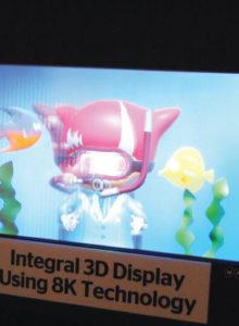 A NHK, emissora pública japonesa, não para em seu processo de imersão televisiva e, no Pavilhão do Futuro, apresentou um protótipo de animação 3D em 8K