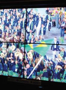Os conteúdos em 8K produzidos pela NHK nos últimos Jogos Olímpicos Rio 2016 foram exibidos no estande da emissora no Pavilhão do Futuro