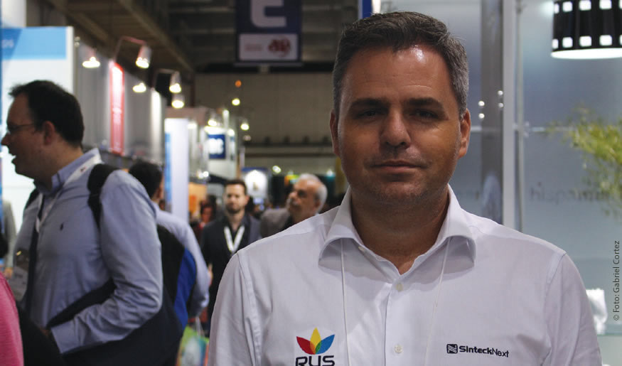 Luciano de Almeida conversou com a Revista da SET no estande da Sinteck no Expo Center Norte