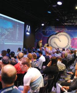 Como sempre, o estande da Adobe concentrou as atenções de muitos visitantes que queriam entender como funcionam as novas aplicações das plataformas da empresa e como estas se conectam a nuvem