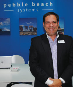 Pebble Beach introduziu à solução Dolphin a possibilidade de suporte para entradas e saídas IP/SDI, e saída para 4K com decodificação H.264/H.265 SPTS em IP ou Quad SDI, explicou Paulo Martínez-Cleves, VP de Vendas para América Latina