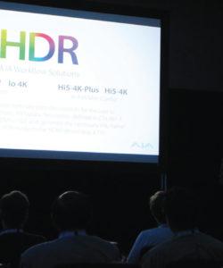 """A Aja entrou no mundo do HDR com a apresentação de uma solução completa para este tipo de aplicação e afirmando que o futuro passa por soluções IP: """"Este IBC é significativo porque apresentamos uma linha de produtos com soluções IP"""", afirmou Nick Rashby, Presidente da AJA Video Systems, e destacou o Kumo 6464, 64×64 compact 3G-SDI Router com BNC-based, com 4RU e a hipótese de 64 entradas, além de outras 64 saídas, podendo ser utilizadas para 4K usando 4 entradas e 4 saídas ao mesmo tempo. A nova matriz compacta 3G-SDI permite fazer o roteamento de vídeo com áudio embutido para saídas BNC com auto reclocking para taxas SDI, ideal para aplicações desde unidades móveis até ilhas de edição para instalações"""