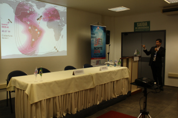 """Abel Souza (SES) apresentou a palestra """"Novas aplicações via satélite para broadcast"""" na tarde desta quarta-feira (09) no SET Norte"""