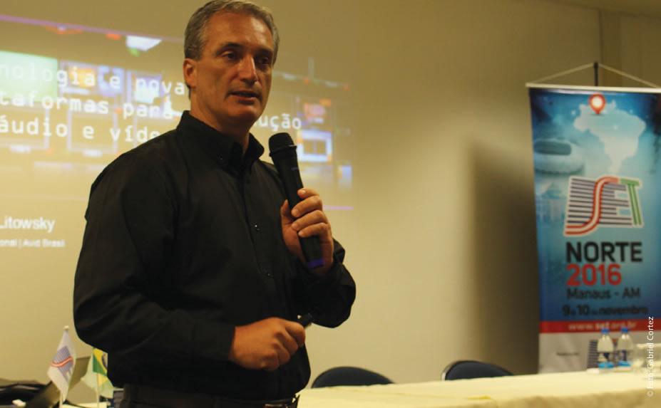 Fredy Litowsky (AVID) lembrou que a Avid trabalha para desenvolver uma plataforma unificada e está certificando parceiros que queiram gerar API em comum com a plataforma da empresa