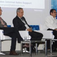 Da esq para dir.: Eduardo Antônio Barros da Silva (UFRJ); José Antonio Garcia (SET – EBC); e Eliésio Silva (Tektronix).