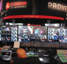 A Canon apresentou pela primeira vez na NAB um estúdio de produção com um workflow completo em 4K