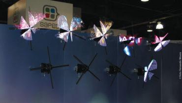 Displays holográficos apresentados na NAB.   Já é possível produzir dispositivos que projetam imagens sem necessidade de uma tela que as suporte
