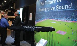 NAB 2019 – Sennheiser apresentou Ambeo Sports Microphone Array, um prototipo de áudio imersivo 3D que automatiza o trabalho pesado, por meio da tecnologia beamforming,  o Ambeo possui 32 microfone projetados para gravação de áudio espacial de 360   °, o AMBEO VR é um microfone ambisonic equipado com quatro cápsulas KE 14 compatíveis em um arranjo tetraédrico